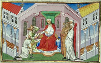 "Prester John - Depiction of the Keraite ruler Toghrul as ""Prester John"" in ""Le Livre des Merveilles"", 15th century"