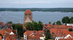 Battle of Waren-Nossentin - View of Müritz Lake from St. Mary's Church tower in Waren