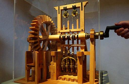 Wasserwerk am Roten Tor, Modell eines Kettentrieb-Pumpwerks