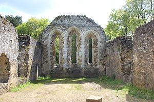 Waverley Abbey - Remains of the 13th-century monks' dormitory