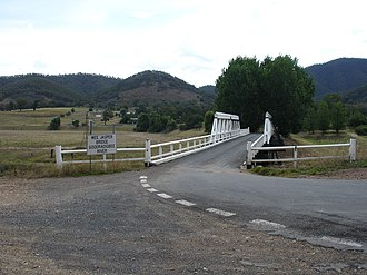 Wee Jasper, New South Wales - Image: Wee jasper bridge 2008