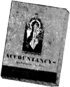 "Monochrome picture of a book with the title ""Accountancy"""