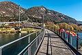 Weissenstein Puch Fussgaengerbrücke über Drau 08112015 8762.jpg