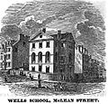 WellsSchool McLeanSt Boston HomansSketches1851.jpg