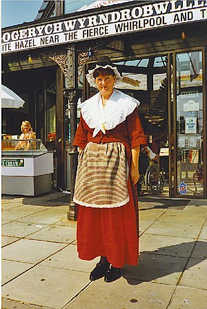 Welsh National dress at LlanfairPG - geograph.org.uk - 107033.jpg