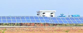 Neemuch - Image: Welspun Solar power plant,Bhagwanpura, Diken,Neemuch
