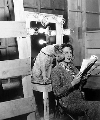 Skippy (dog) - Skippy with Wendy Barrie on the set of It's a Small World (1935)