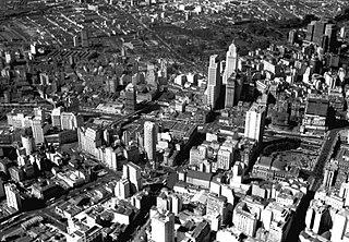 Vista aérea do Vale do Anhangabaú. São Paulo/SP