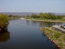 Pohled nad řekou werre levý přítok do řeky wesery