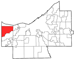 Location of Westlake in Cuyahoga County