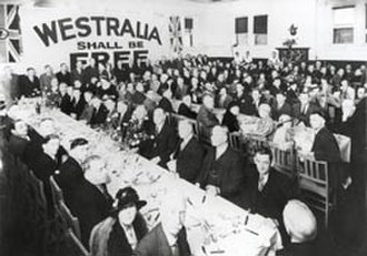 History of Western Australia - Secessionists at a meeting.