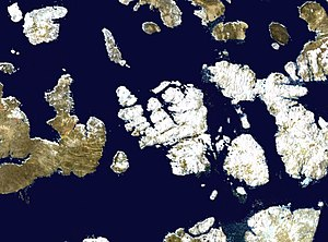 Bathurst Island (Nunavut) - Satellite photo montage of Bathurst Island and its neighbours