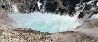 Whakaari / White Island - Image: White Island crater lake, March 2004
