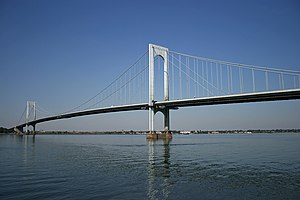 Bronx–Whitestone Bridge - View of the Bronx-Whitestone Bridge from Queens.