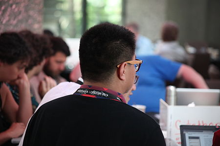 Wikimania 2014 - Day - Hackathon participants 04.JPG