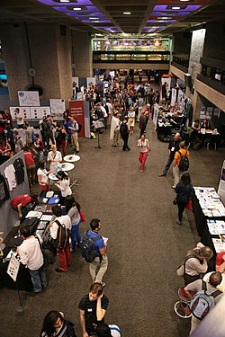 Wikimania 2014 Community Village.JPG