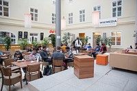 Wikimedia Hackathon Vienna 2017-05-20 Atrium 02.jpg