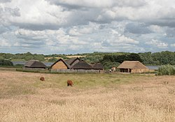 Reconstructed houses in the area of the old settlement
