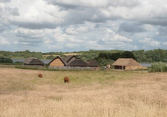 Hedeby - Reconstructed houses in the area of the old settlement