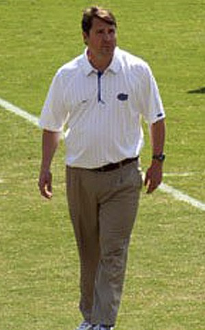 Will Muschamp - Image: Will Muschamp, UF Spring Game, 2011