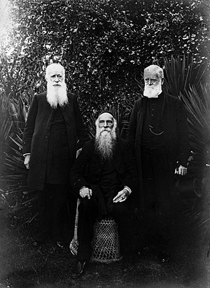William Cowie - Bishop Cowie (seated) flanked by Leonard Williams (left) and Samuel Williams