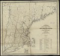 Williams' telegraph and rail road map of the New England states, eastern portion of New York state and Canada (10195538786).jpg