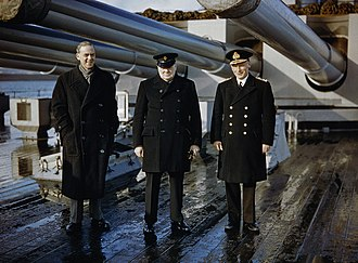 John Tovey, 1st Baron Tovey - Admiral Tovey with Winston Churchill and Sir Stafford Cripps.