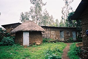 Beta Israel - Synagogue in the village of Wolleka in Ethiopia