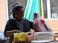 Woman Vendor in Market - Quba - Azerbaijan (18035581672).jpg
