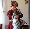 Woman and child reenactors - Fort Ross State Historic Park - Jenner, California - Stierch.jpg