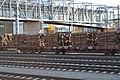 Wooden sleepers on train in Jyväskylä.jpg