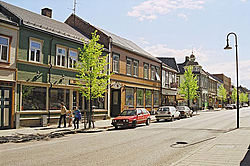 View of the Kirkegata, the main street.