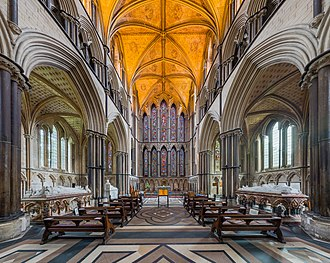 Worcester Cathedral - The lady chapel and east window