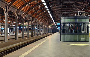 Wrocław Główny railway station - The interior of the station
