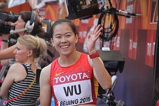 Wu Shuijiao Chinese hurdler