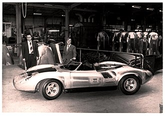 Jaguar XJ13 - Jaguar XJ13 during assembly at Abbey Panels after the MIRA crash