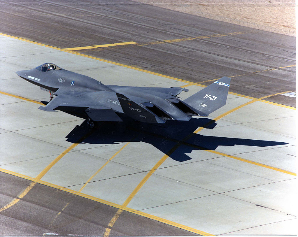 YF-23 on taxiway