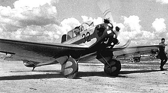 Yakovlev AIR-9 - The AIR-9bis, in later form, without cowling and with undercarriage strut trousers