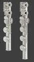Yamaha Flute YFL-372 372H foot comparison.tif