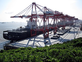 Port of Shanghai - Shanghai Port is the world's busiest container port
