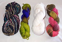 Yarn hanks or skeins.JPG