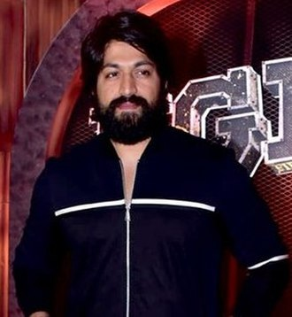 Yash (actor) - Yash at the trailer launch event of K.G.F: Chapter 1, 2018