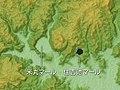 Yonemaru Maar & Sumiyoshi Ike Maar, Relief Map, SRTM, Japanese.jpg