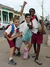 Young Boys in School Uniform - Pinar del Rio - Cuba