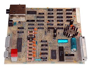 Robotron Z1013 - Z1013 board with distinctive 16 KB RAM chips.