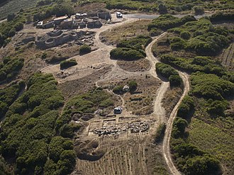 Castro of Zambujal - The excavations on the Zambujal promontory in 2007, showing in front the 4th fortification line