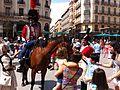 Zaragoza - Turistas y Figurantes vestidos de soldados de la Guerra de la Independencia 08.jpg