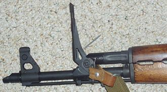 Zastava M70 - Zastava M70 rifle with grenade sights raised.