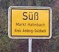Zeichen 310 - Ortstafel Süß, Markt Hahnbach, Kreis Amberg-Sulzbach, 2006.jpg