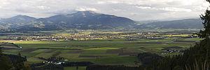 Zeltweg - Image: Zeltweg und Umgebung von Norden Panorama